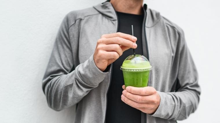 mad drinking green shake