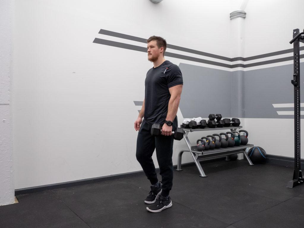 Single Leg Romanian Deadlift - Start Position