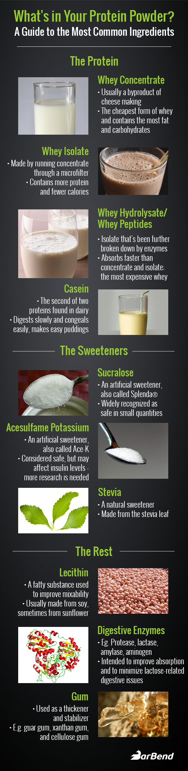 Whey Protein Powder Infographic