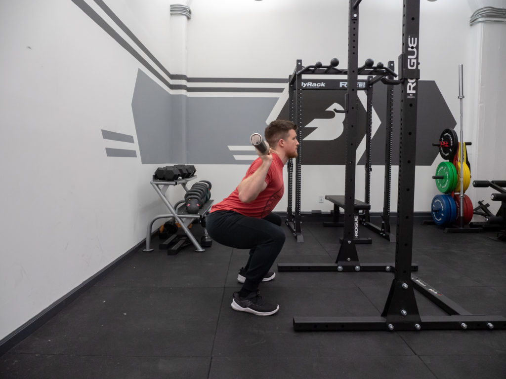 Back Squat Exercise Guide - Sit Down
