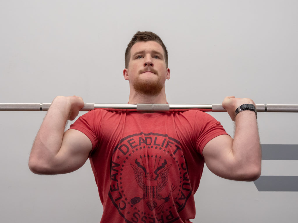 Push Press Exercise Guide - Front Rack Set Up
