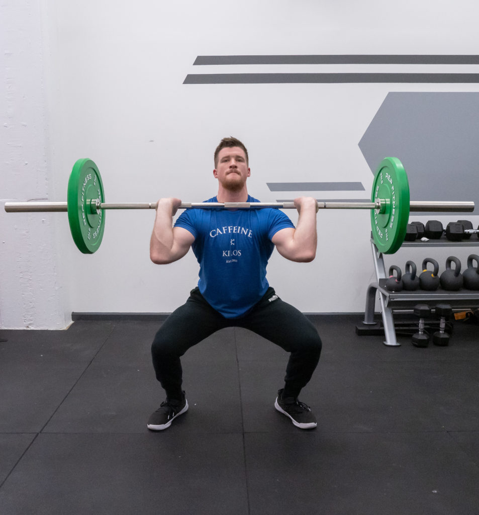Thruster Exercise Guide - Squat Down