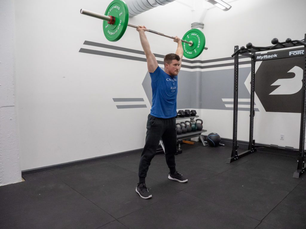 Thruster Exercise Guide - Top Position