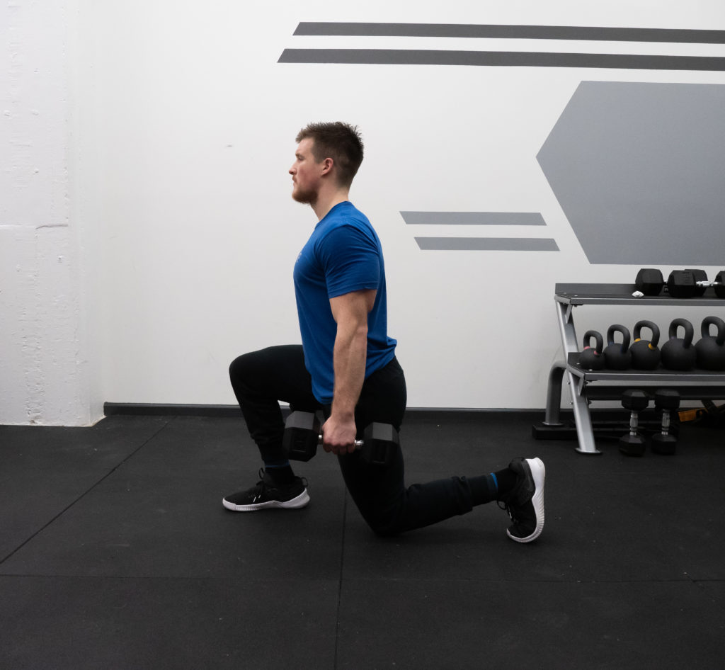 Walking Lunge Exercise Guide - Knee to Floor
