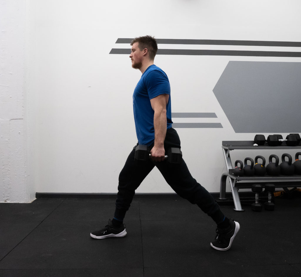 Walking Lunge Exercise Guide - Step Forward