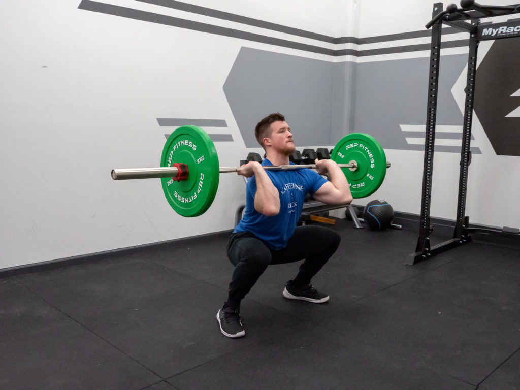 Clean and Jerk Exercise Guide - Receiving in Squat