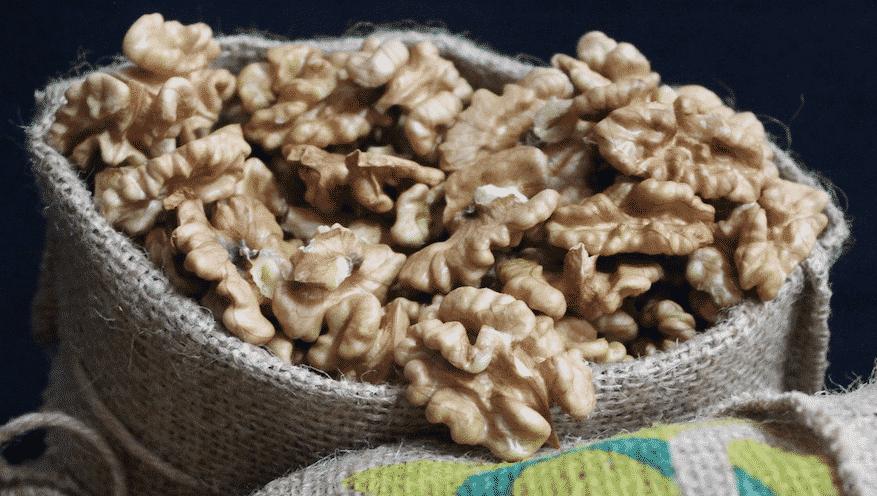 Walnuts in a big old sack