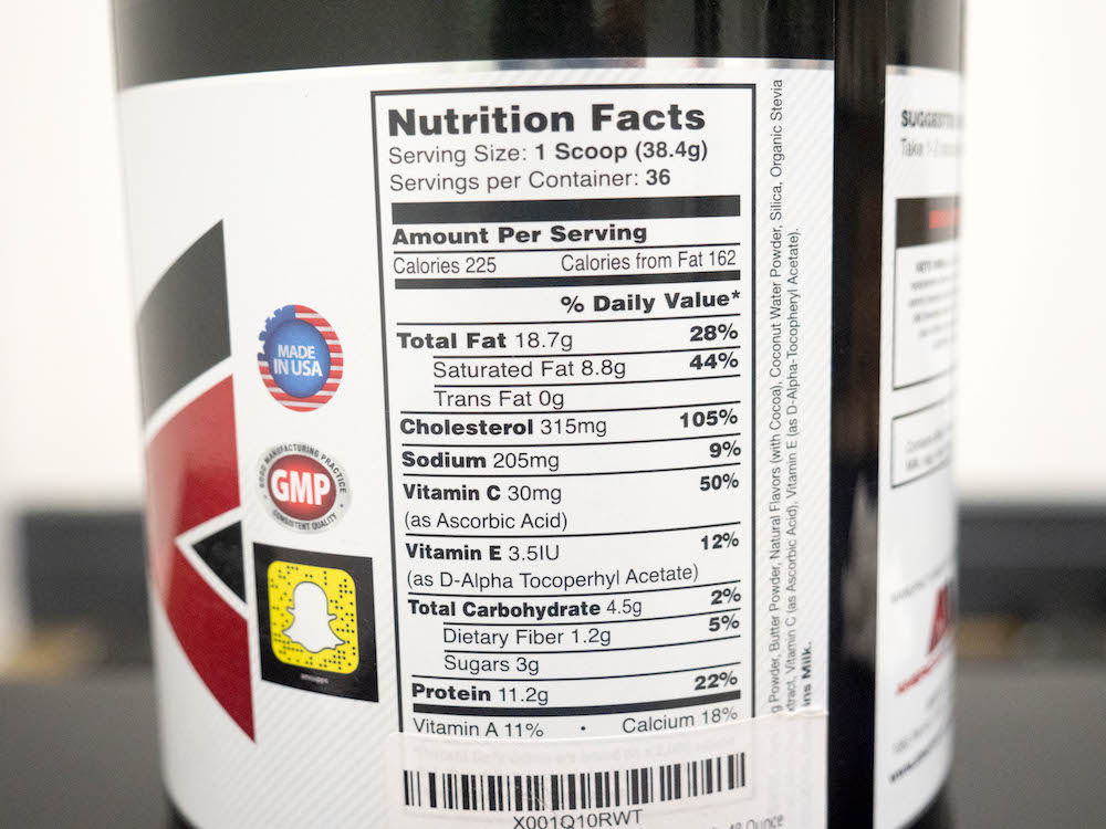 American Metabolix Keto Meal Nutrition