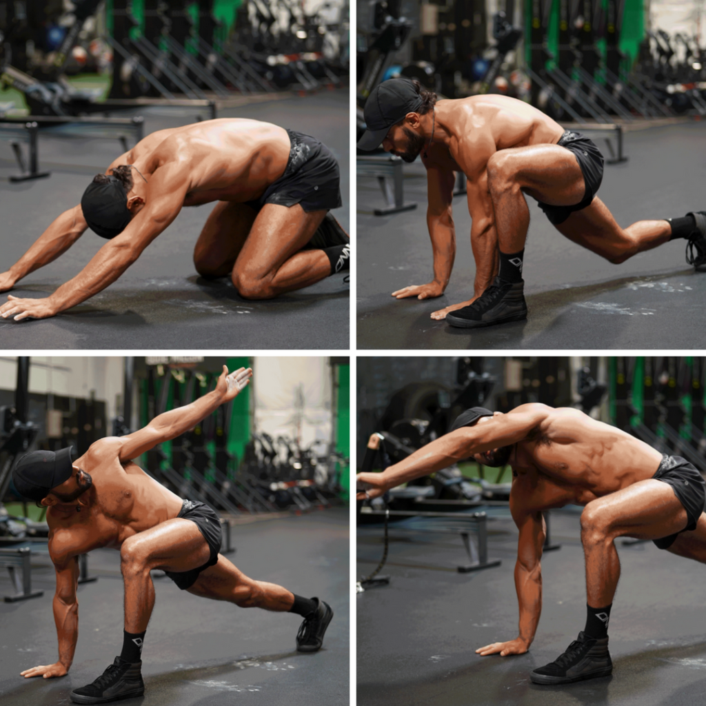 Mountain Climber With Reach Mobility Drill
