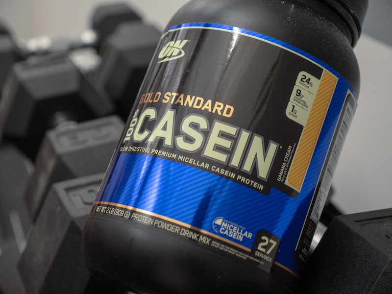 Optimum Nutrition Casein on weights