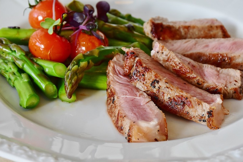 Pork and asparagus