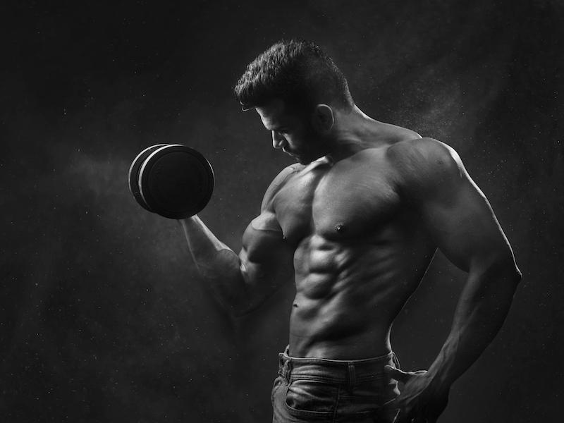 man lifting weight free