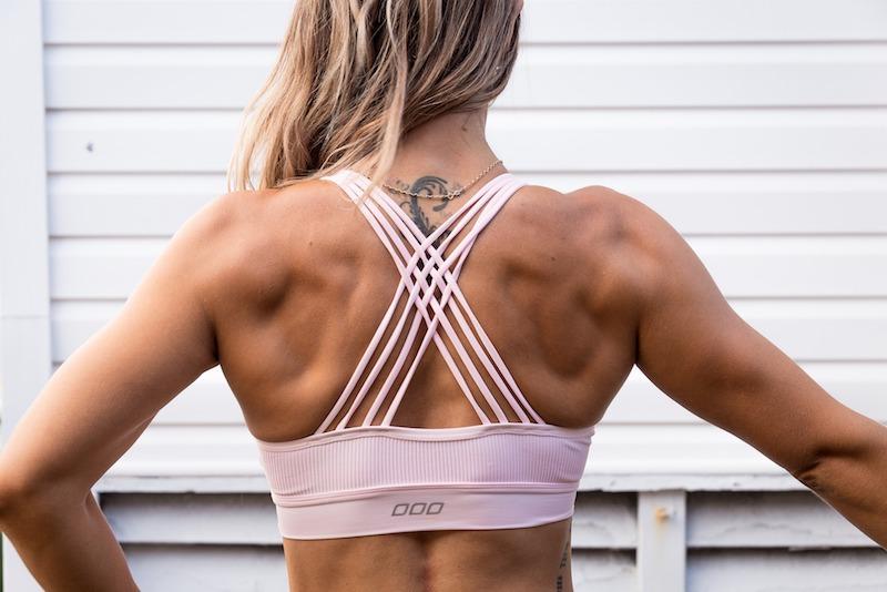 woman muscular back