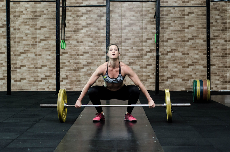woman weightlifting free
