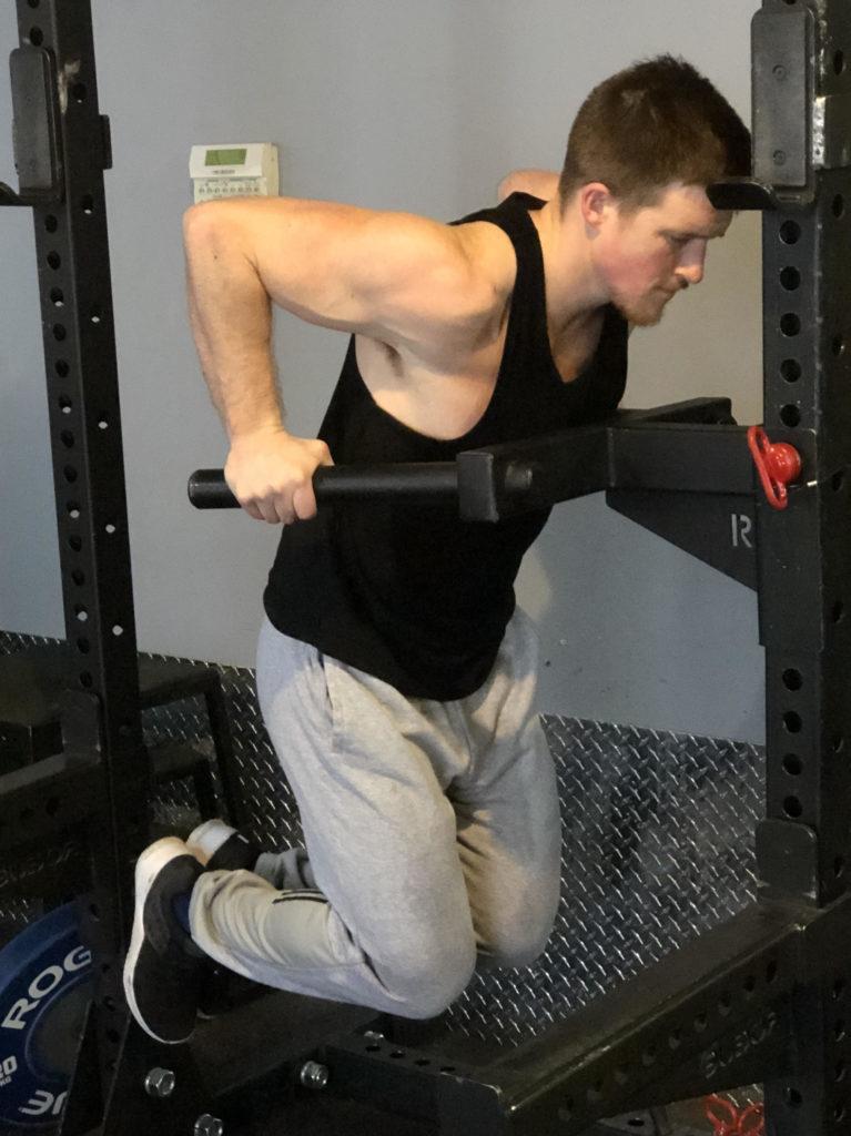 Dips Exercise Guide - Bottom Position