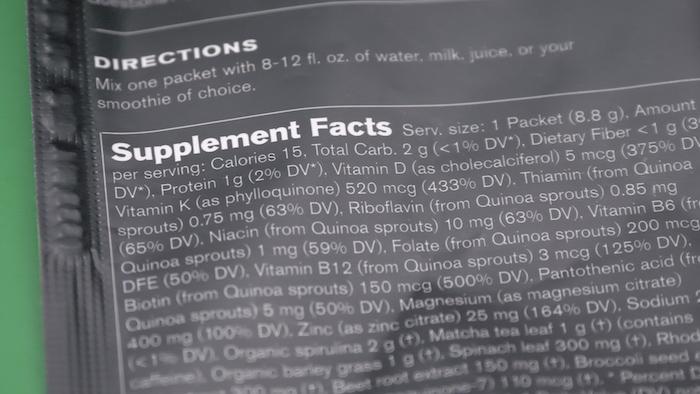 Ladder Greens ingredients