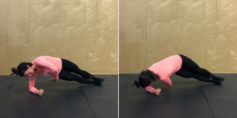 side plank twist