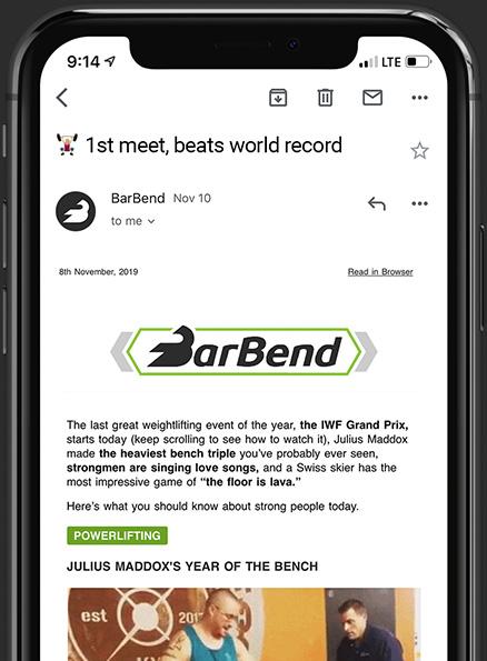 BarBend Newsletter