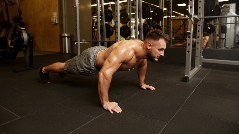 body weight push-up